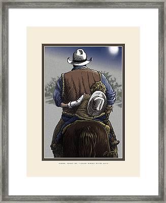 Wejesgotstatrust Framed Print by Cliff Hawley