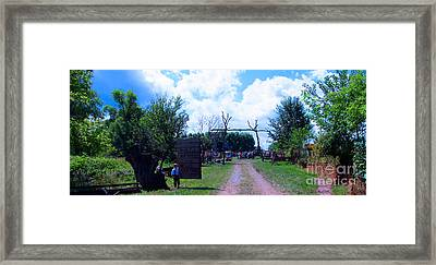 Welcome And Enjoy Framed Print by Tina M Wenger