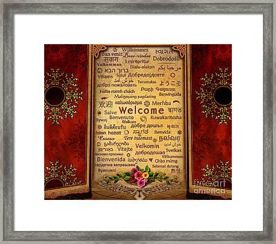 Welcome Framed Print by Bedros Awak