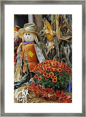 Welcome Fall Framed Print by Kenny Francis