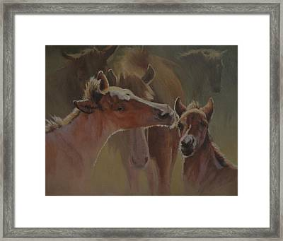 Welcome Party Framed Print by Mia DeLode