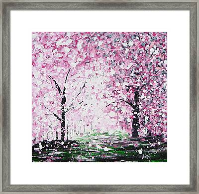 Welcome Spring Framed Print by Kume Bryant