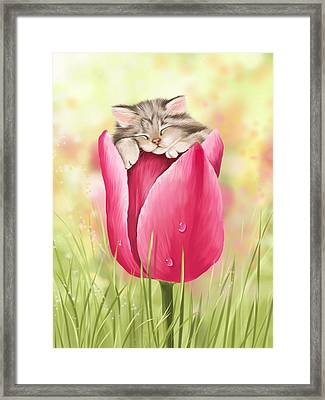 Welcome Spring Framed Print by Veronica Minozzi