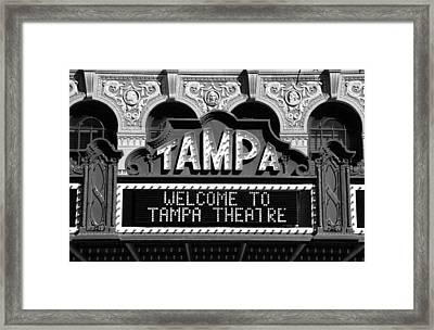 Welcome Tampa Framed Print by David Lee Thompson