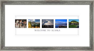 Welcome To Alaska Framed Print by Retro Images Archive