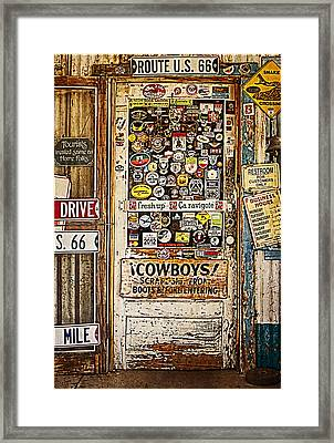 Welcome To Hackberry General Store Framed Print by Priscilla Burgers