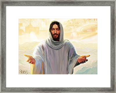 Welcome To Heaven Framed Print by Mark Spears