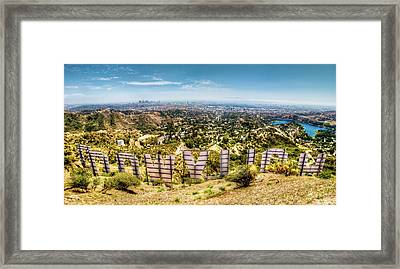 Welcome To Hollywood Framed Print by Natasha Bishop