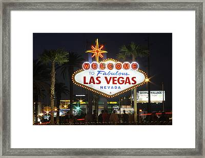 Welcome To Las Vegas Framed Print by Mike McGlothlen