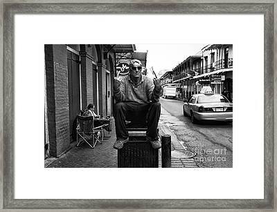 Welcome To New Orleans Mono Framed Print by John Rizzuto