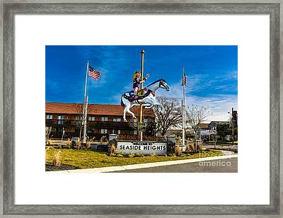 Welcome To Seaside Heights Framed Print by Gary Keesler