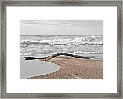 Welcome To The Beach Framed Print by Frozen in Time Fine Art Photography
