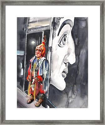 Welcome To The Czech Republic 01 Framed Print by Miki De Goodaboom