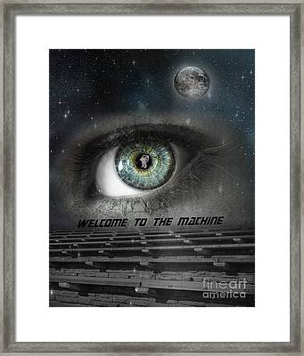 Welcome To The Machine Framed Print by Juli Scalzi