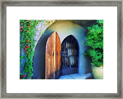 Welcome To The Winery Framed Print by Elaine Plesser