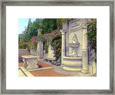 Weld Garden Framed Print by Terry Reynoldson