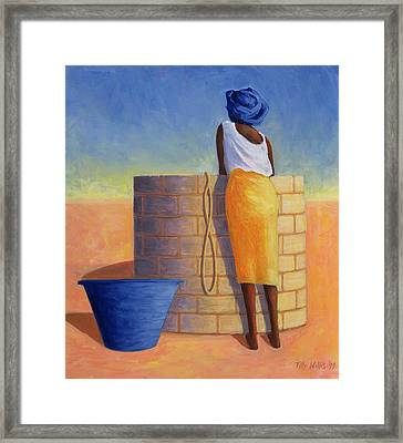 Well Woman, 1999 Framed Print by Tilly Willis