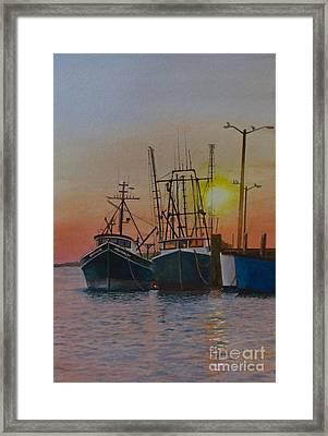 Wellfleet Dusk Framed Print by Karol Wyckoff