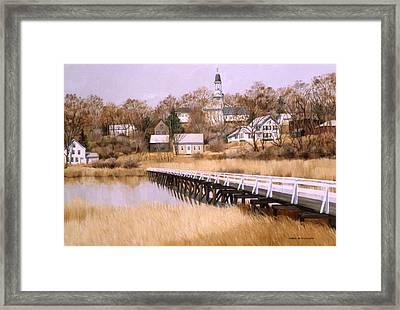 Wellfleet Golden Morn Framed Print by Karol Wyckoff