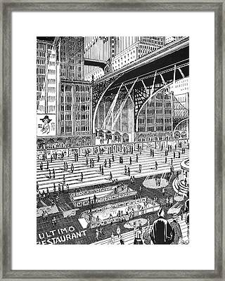 Wells Days To Come, 1920 Framed Print by Granger