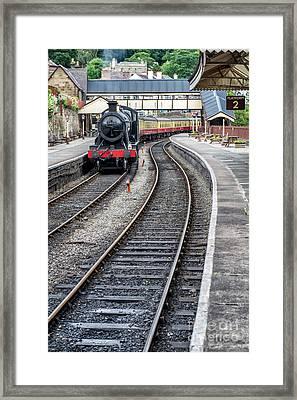 Welsh Railway Framed Print by Adrian Evans
