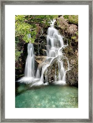 Welsh Waterfall Framed Print by Adrian Evans
