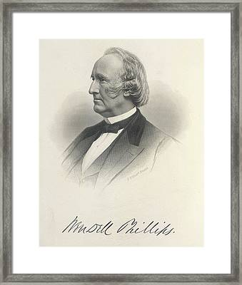 Wendell Phillips Framed Print by British Library