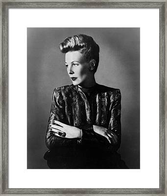 Wendy Barrie, Ca. Mid-1940s Framed Print by Everett