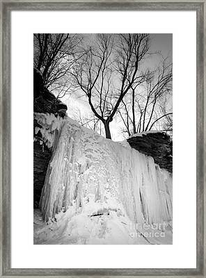 Wequiock Walls Of Ice Framed Print by Mark David Zahn