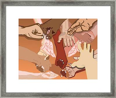 We're All In This Together Framed Print by Pharris Art