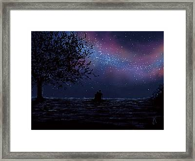 We Are Still Looking Up Framed Print by Veronica Minozzi