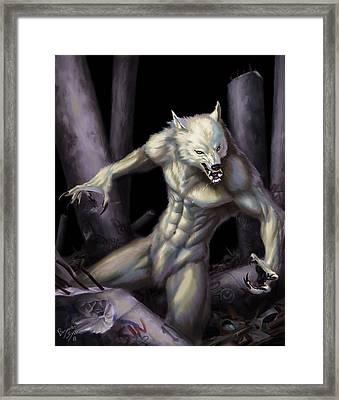 Werewolf Framed Print by Bryan Syme