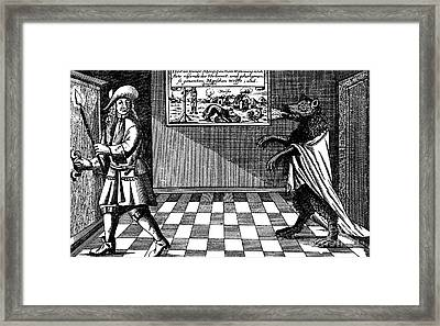 Werewolf Of Ansbach, 1685 Framed Print by Photo Researchers