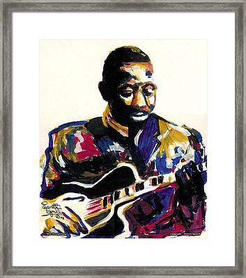 Wes Montgomery Framed Print by Everett Spruill