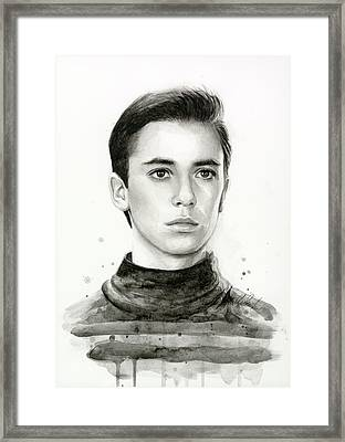 Wesley Crusher Star Trek Fan Art Framed Print by Olga Shvartsur