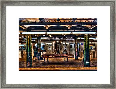 West 4th Street Subway Framed Print by Randy Aveille