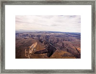West Airport, Lake Mead National Framed Print by Ofir Ben Tov