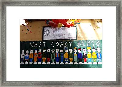West Coast Bento Framed Print by David Bearden