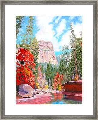 West Fork - Sedona Framed Print by Steve Simon
