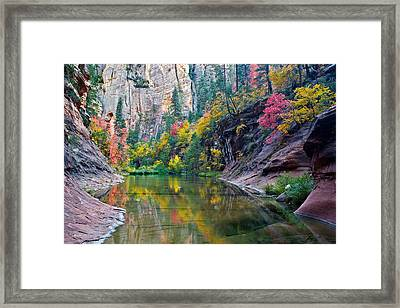 West Fork Serenity Framed Print by Guy Schmickle