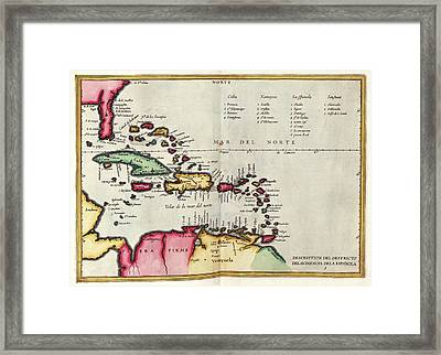 West Indies Framed Print by Library Of Congress, Geography And Map Division