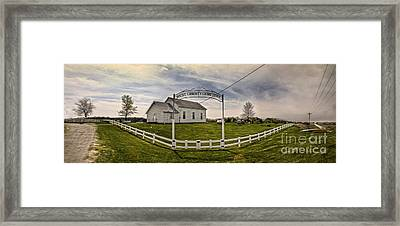 West Liberty Cemetery Framed Print by Gregory Dyer