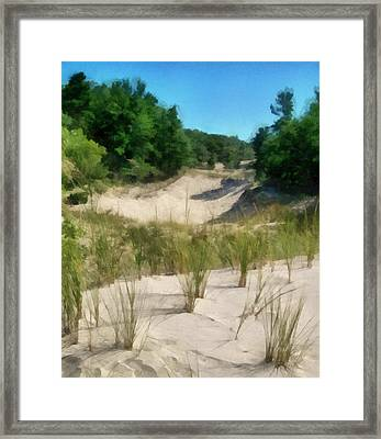 West Michigan Dunes Framed Print by Michelle Calkins