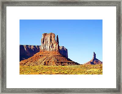 West Mitten - Monument Valley Framed Print by Douglas Taylor