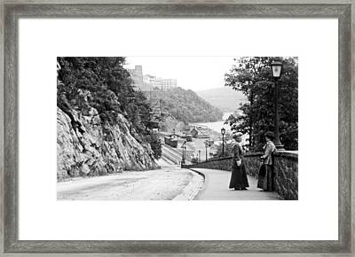 Framed Print featuring the photograph West Point New York 1914 Vintage Photograph by A Gurmankin