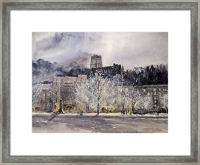 West Point Winter Framed Print by Sandra Strohschein
