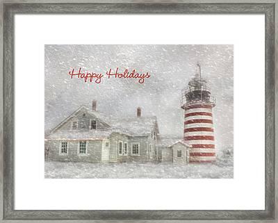 West Quoddy Christmas Framed Print by Lori Deiter