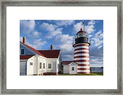 West Quoddy Head Lighthouse Framed Print by John Greim