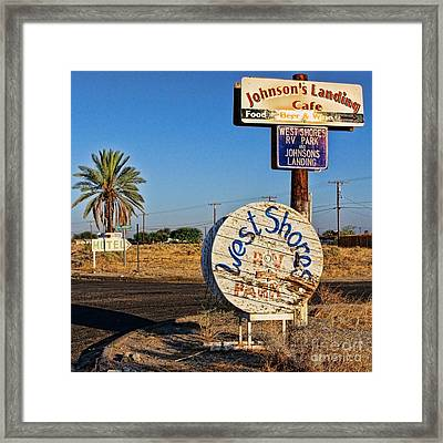 West Shores Johnson's Landing At The Salton Sea By Diana Sainz Framed Print by Diana Sainz