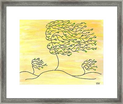 West Texas Wind Spring Framed Print by Susie WEBER